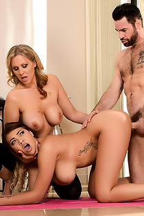 Julia Ann And Cassidy Banks In Yoga Freaks